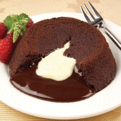 Molten Lava Cake White Chocolate Center