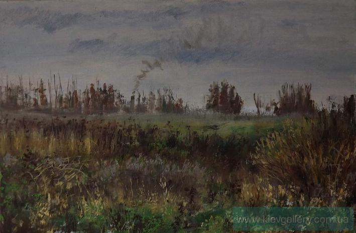"""""""Cloudy day"""", Painter Shurykin Danil."""