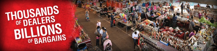 ooh! one of my favorite places : )  Traders Village in Grand Prairie, Texas opened in 1973, and is spread over 120 acres, with more than 3,500 dealers, every weekend.