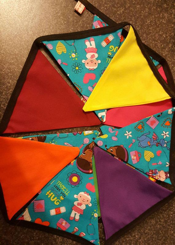 Check out this item in my Etsy shop https://www.etsy.com/uk/listing/492146138/doc-mcstuffin-childrens-fabric-bunting
