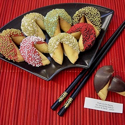 Fortune Cookies! Personalized from the frosting and sprinkles to the fourtune inside!