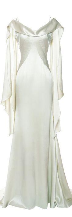 Glamorous A-line Elastic Woven Satin Spaghetti Straps Floor Length Wedding Dress For Harry Potter
