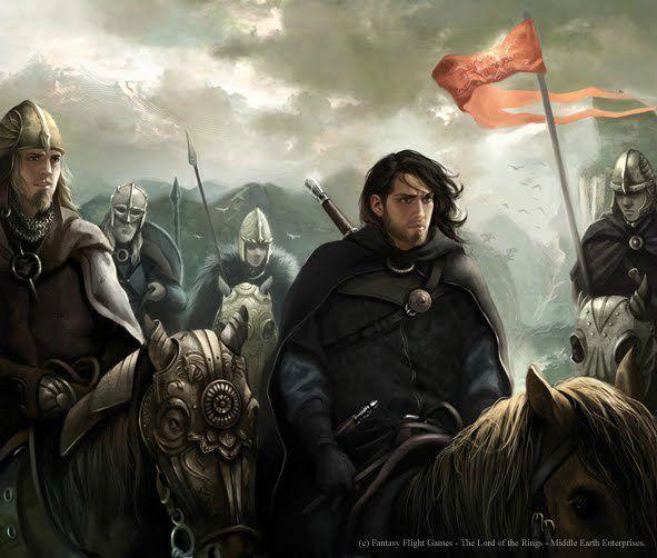Aragorn with the Rohirrim (Flight Fantasy Games - Middle Earth Enterprises)