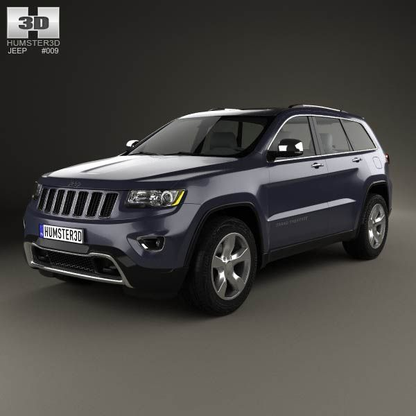 Jeep Grand Cherokee Overland 2014 3d model from humster3d.com. Price: $75