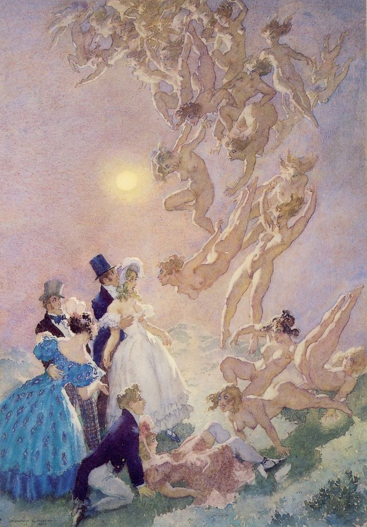 Visitants from the Moon - Norman Lindsay
