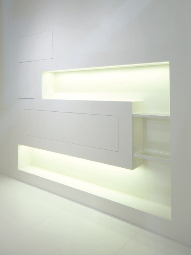 Wall niche OPEN BOX LIGHT Compartments Collection by Sistemi RasoParete®