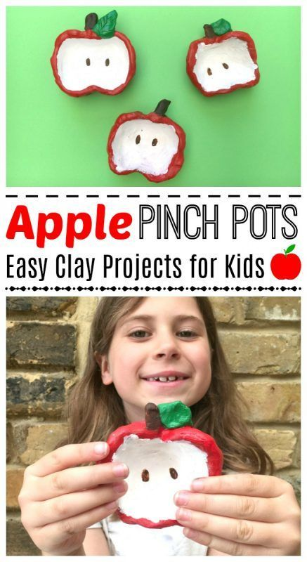 Apple Pinch Pots for Kids - this is a super easy and darling apple craft for kids. Perfect fall activity and super easy and cute. My kids adored the process, and these little apple pinch pots also make great gifts that kids can make later in year. Adorabl