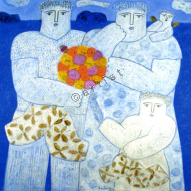 Φαίδων Πατρικαλάκις, Χωρίς τίτλο, 2009, λάδι σε μουσαμά, 120 x 120 εκ.