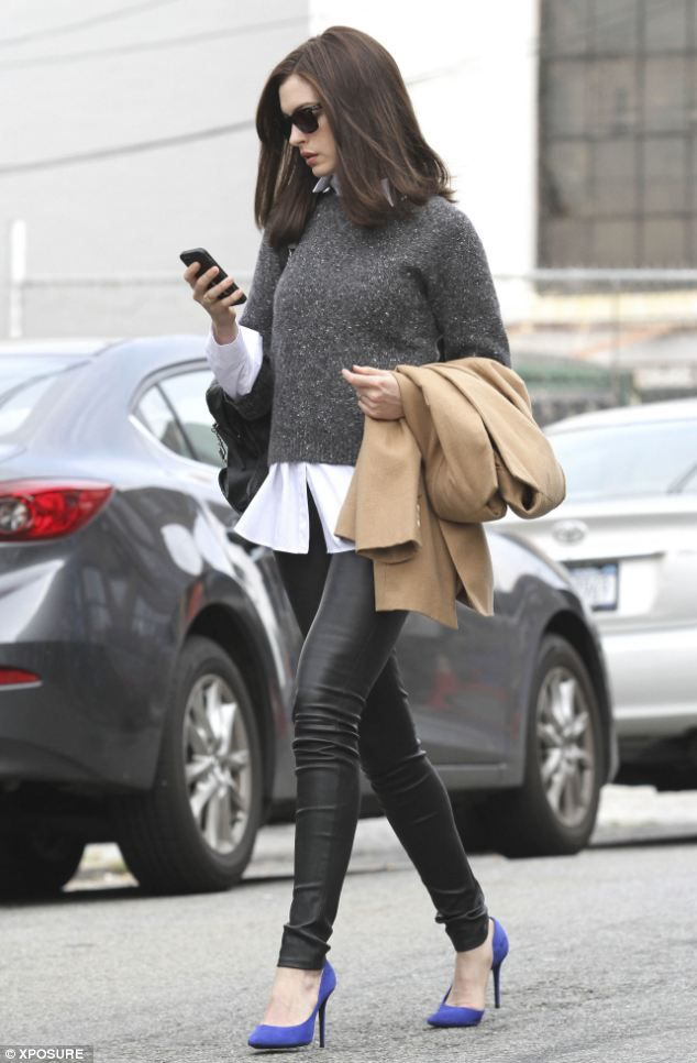 Anne Hathaway filming The Intern.  A film by Nancy Meyers.  Coming to theaters Sept. 25, 2015