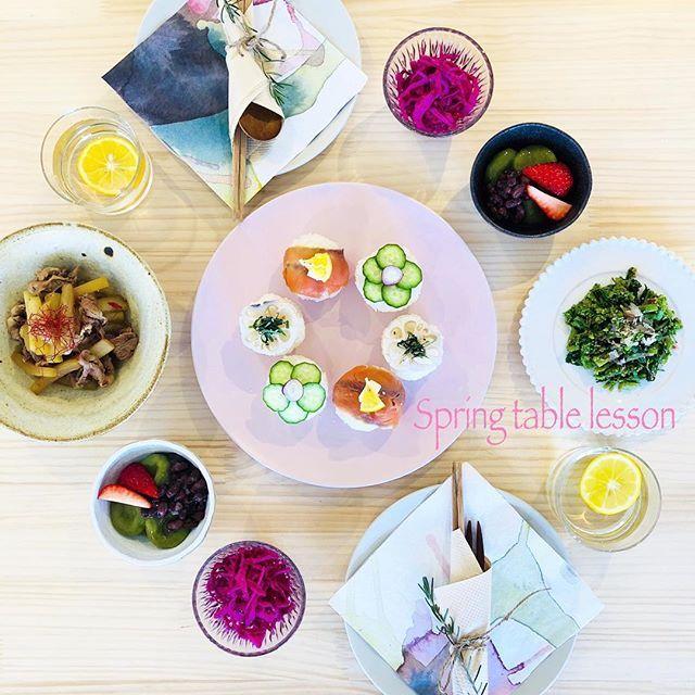 By @eri_k_o_ on Instagram ☆2018/02/17 13:12:57 ☆ ☆【料理教室のお知らせ】  ひな祭りやお花見など行事食が楽しみな季節まで、あと少し。春の食卓をイメージし、手まり寿司をおもてなしのテーブルコーディネートにしたレッスンです。そのままお弁当に詰めても頂けるメニューです。 写真には写っておりませんが、汁物も作る予定です。 ・ ◯menu●◎。 ・ ・手まり寿司 ・菜の花のお浸し ・大根と豚肉のピリ辛炒め煮 ・紫キャベツの酢漬け ・抹茶白玉団子 〜粒あんと苺のトッピング〜 ・汁物 ・ ※ドリンクに使用した、レモンシロップの作り方もお伝え致しします。 ・ 日程: 2〜3月 ・ ・2月22日(木)  11時〜14時頃 ・ ・2月24日(土)  11時〜14時頃・ ・3月 3日(土)  11時〜14時頃 ・ ・3月4日(日)  11時〜14時頃 ・ ・3月20日(火)  11時〜14時頃 ・ ・3月21日(水祝)11時〜14時頃 ・ ・3月24日(土)  11時〜14時頃・残2席・ ・ 料金: 4000円 定員:各4名様まで…