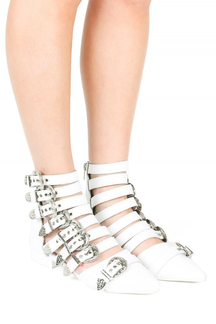 Jeffrey Campbell Shoes PSYCHE Booties in White Box