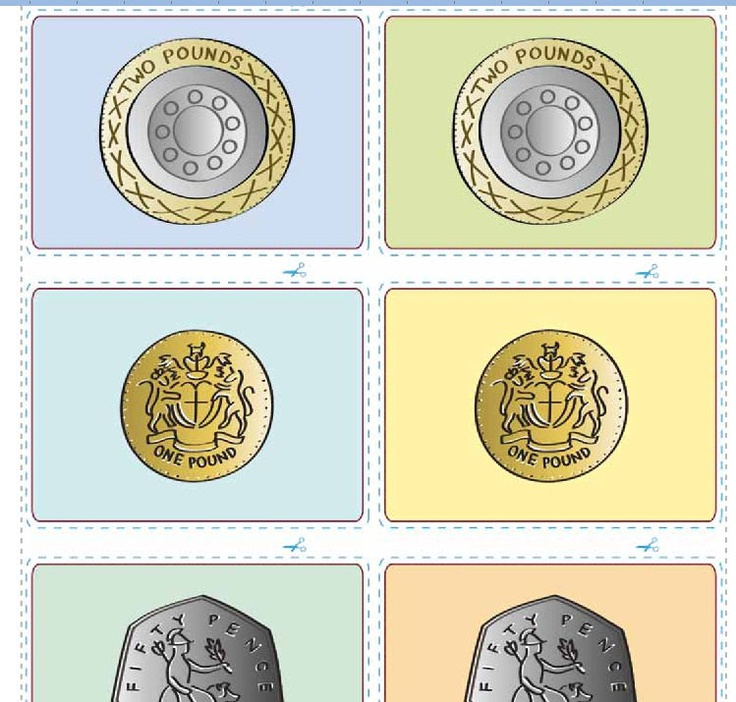 A downloadable resource designed to help pupils develop their coin recognition skills. The resource can be used in a number of ways and are based on the traditional card games snap and pairs.