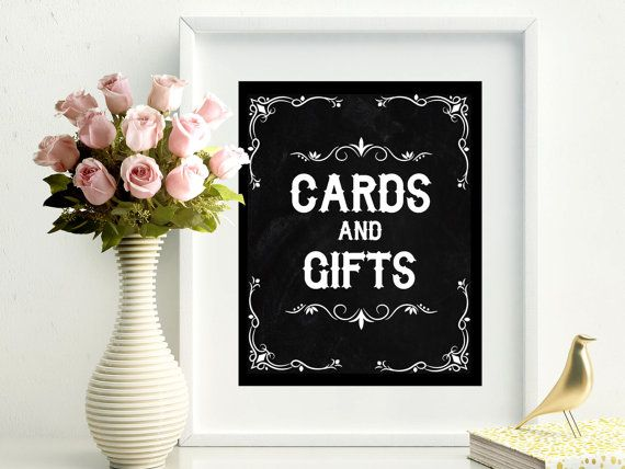 SALE 70% Printable chalkboard cards and gifts sign digital