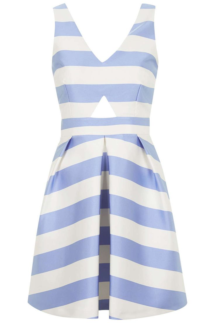 Fitted Striped Dress Topshop