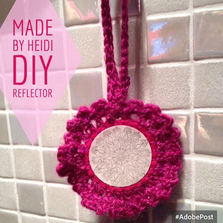 Virkattu heijastin / Crochet reflector DIY