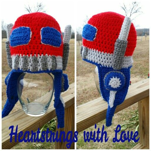 Crochet Pattern For Optimus Prime Hat : 1000+ images about Crochet hats on Pinterest Minion ...