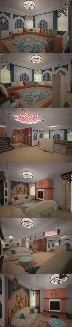 Восточный стиль в интерьере. Этнические мотивы в дизайне частного дома.