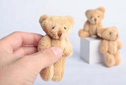 Teddy Bear Picnic :: Cake Topper - Mini Jointed Bears ($1.69 each at Factory Direct Craft)