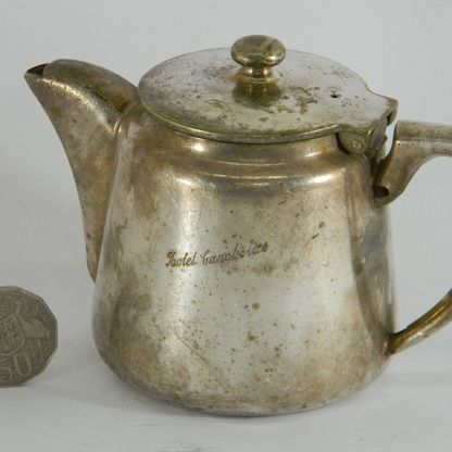 Hotel Ware Canobolas  EPNS - Tea Pot - EPNS Hotel Ware - Tea Pot - from a bygone era at the Hotel Canobolas, Orange, NSW. Various items in stock - discounts for multiple purchases - call us at the shop for details.