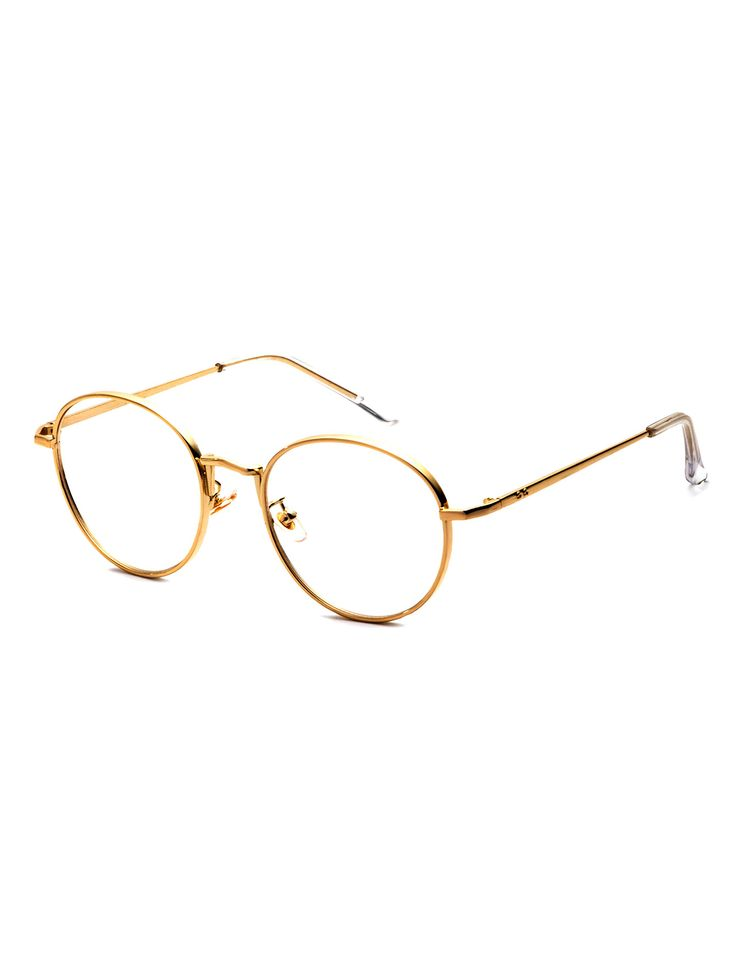 Shop Gold Delicate Frame Clear Lens Glasses online. SheIn offers Gold Delicate Frame Clear Lens Glasses & more to fit your fashionable needs.