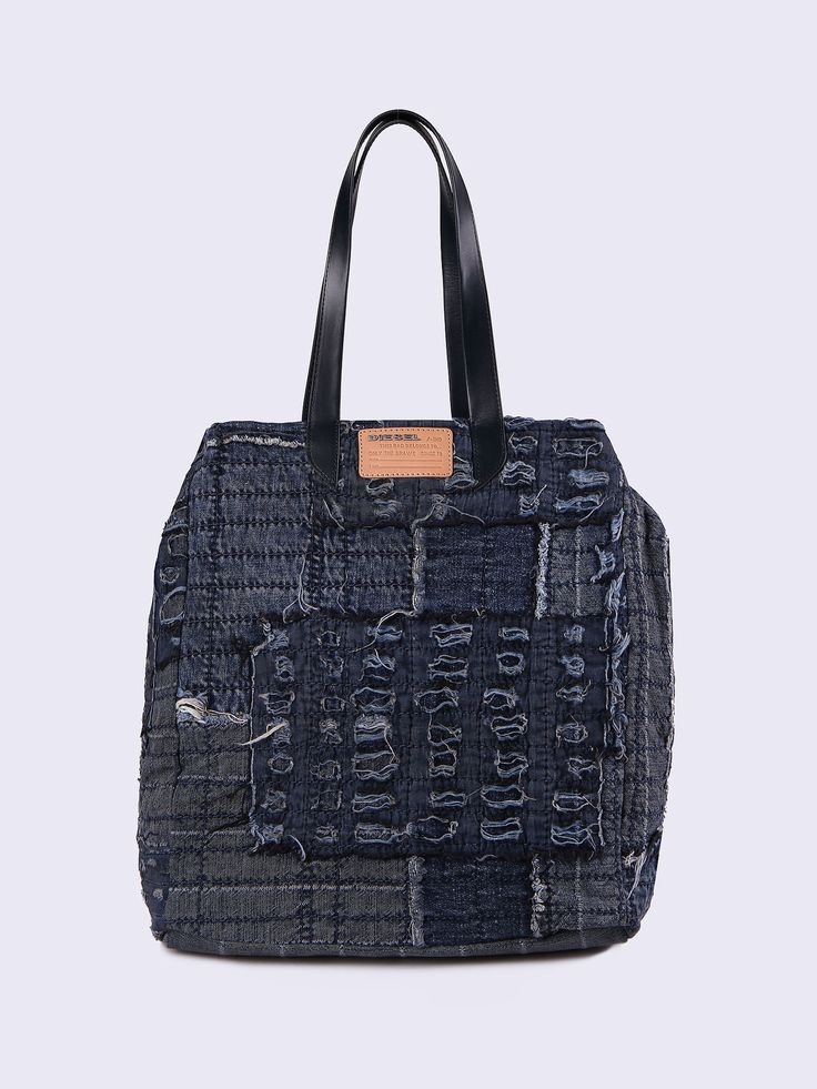 DIESEL D-Roppongy Tote Shopping And Shoulder Bags. #diesel #bags #tote #leather #denim #shoulder bags #hand bags #nylon #cotton #