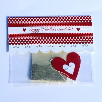 valentines: Valentines Ideas, Sweet Tea, Goodies Bags, Valentines Bags, Free Valentines, Teas Gifts, Holidays Valentines, Paper Crafts, Teas Valentines
