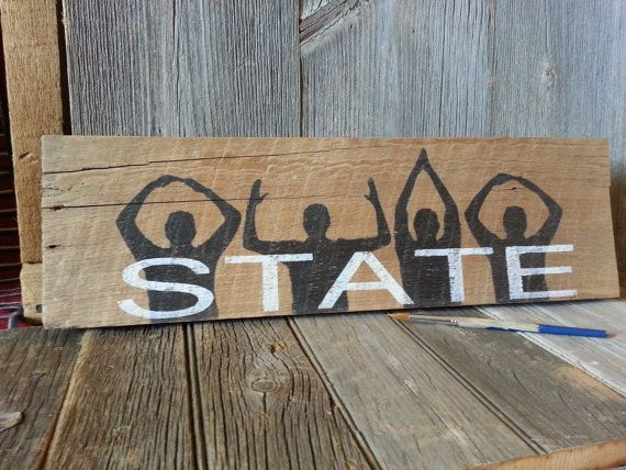 Ohio State Reclaimed Wood Sign O H I O Sign Go by RusstyBucket, $18.00