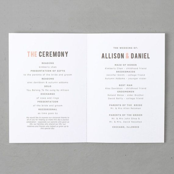 9 Best Wedding Programs Images On Pinterest | Wedding Programs
