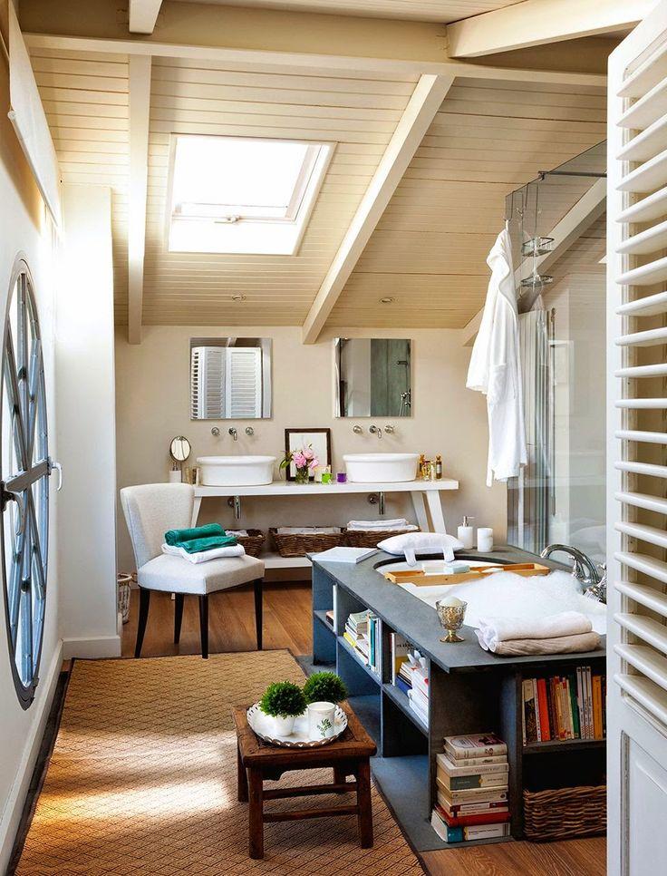 MAMPARAS-OFERTAS.COM: Un baño parisino en la buhardilla