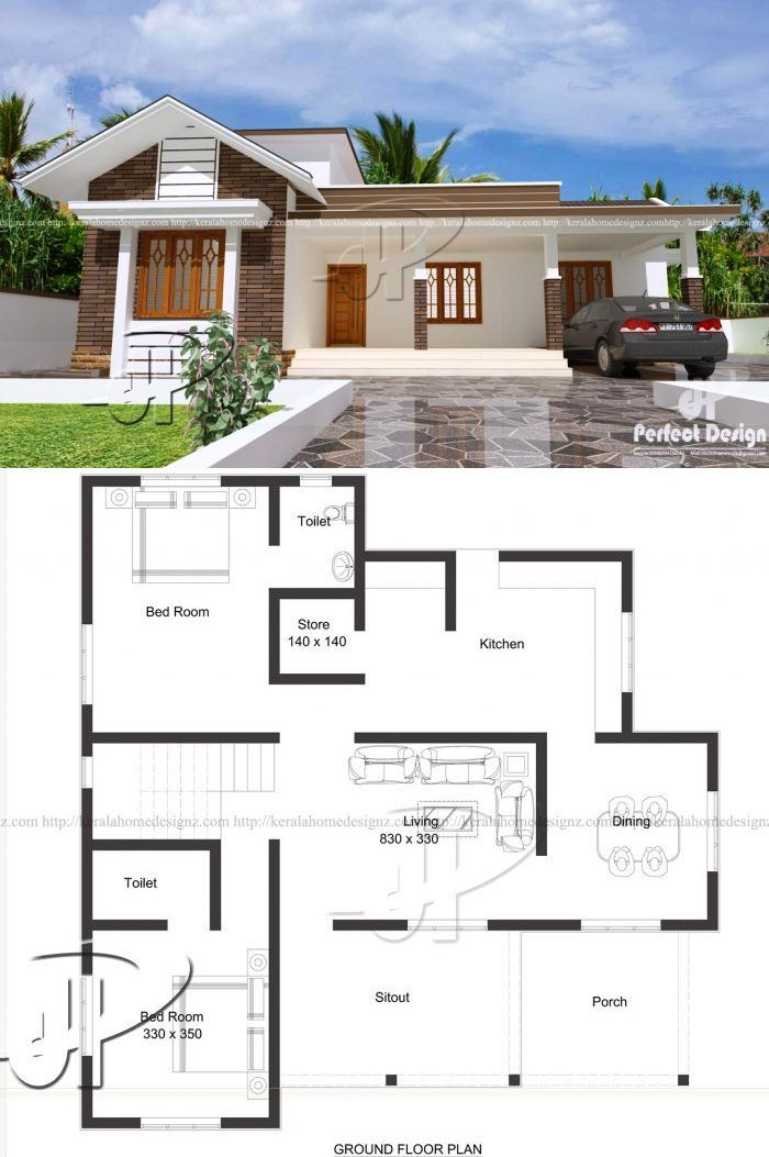 Live Your Dreams In This Modern Bungalow With A Roof Deck Ulric Home Affordable House Design My House Plans House Designs Exterior
