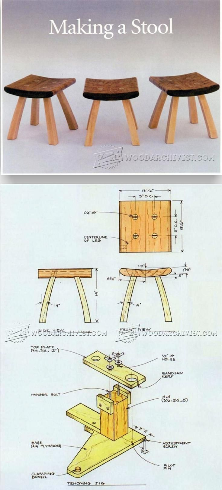 Small Stool Plans - Furniture Plans and Projects | WoodArchivist.com