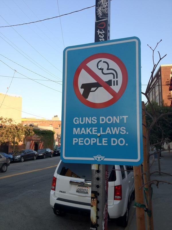 #Trustocorp #art #politics #streetsign #guns