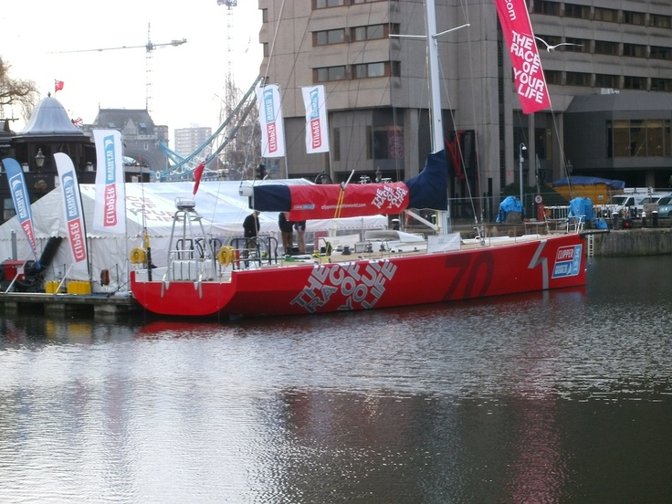 Clipper 70 foot Race Yacht at St Katherine Docks