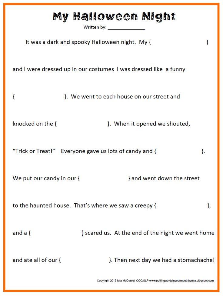 halloween lesson plans grade 5