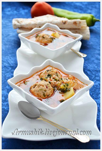 Суп с фрикадельками (кололак)