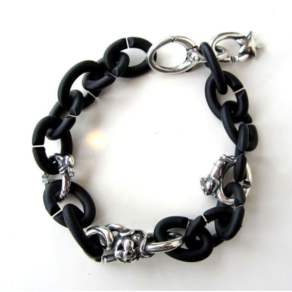 "Liz's ""X"" Halloween Bracelet! Clever Cat, Lucky Spider, the Pumpkin and the Lucky Star used as a dangle off the lock!"