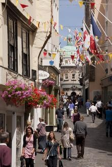 St Peter Port High Street, Guernsey. Picture: Rod Edwards