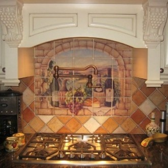 25 best images about tuscan kitchen on pinterest french for Tuscan style kitchen backsplash