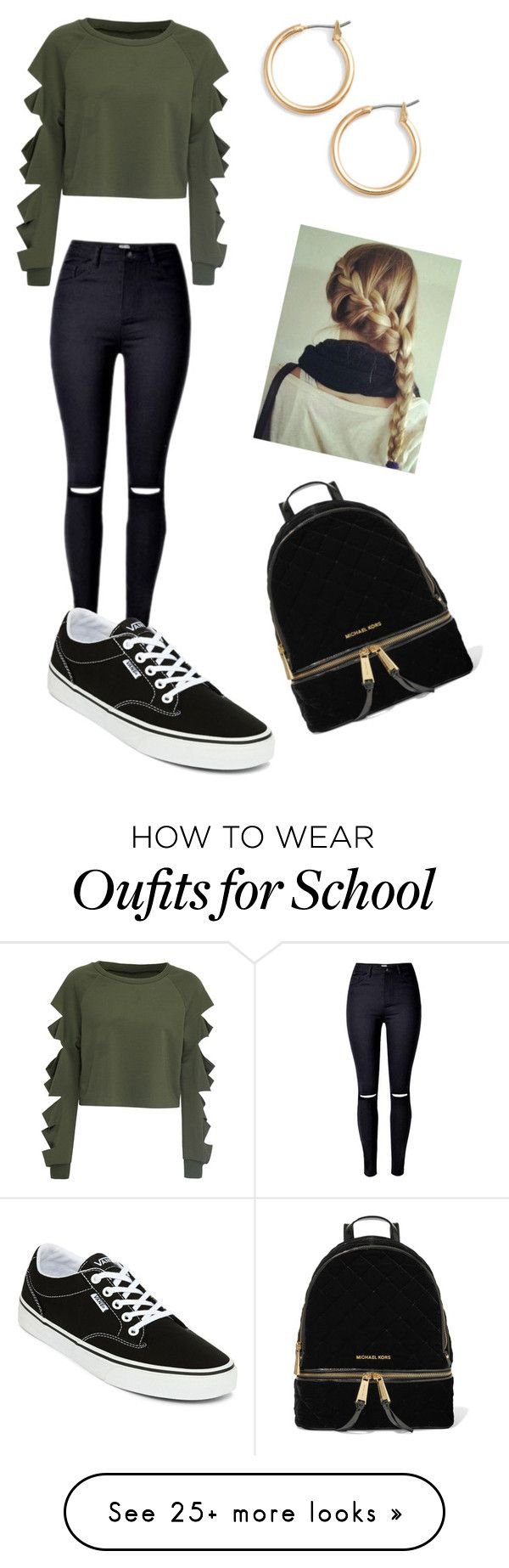 School by gisselleotero on Polyvore featuring WithChic, Vans, Nordstrom and MICHAEL Michael Kors