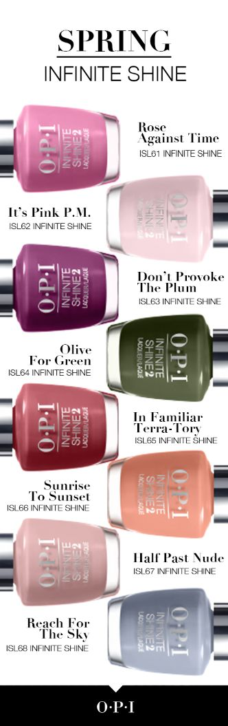 OPI - Infinite Shine Collection Spring/2016