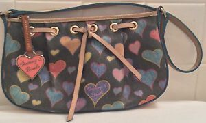 Dooney & Bourke Colorful Pink Heart Tag Handbag Pebbled Leather Purse Authentic! | eBay