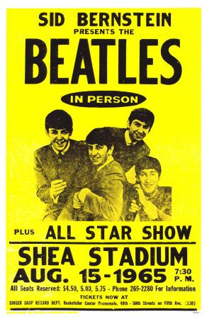 Music Concert Posters | The Beatles Shea Stadium Poster 1965. 6.3. 2016, www.nco.is NCO eCommerce, www.netkaup.is