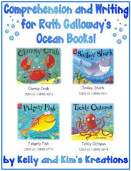 Have you read Ruth Galloway's adorable ocean-themed books? Clumsy Crab, Fidgety Fish, Smiley Shark, and Tickly Octopus! Our students love them!    We have created listening comprehension and writing response prompts for each of these stories. The listening comprehension assessments include ten questions to check student understanding through multiple choice, true/false, or short answers. (Plus, answer keys for teachers!) The writing response prompts ask children to elaborate on their favorite...Galloway Adorable, Fidgety Fish, Comprehension Assessment, Galloway Ocean, Book, Clumsy Crabs, Listening Comprehension, Create Listening, Adorable Ocean Them