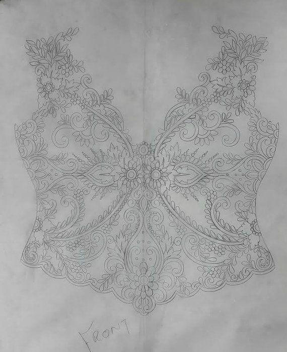 À la main perlé et brodé haut de corsage de robe mariage, Anna Campbell d'inspiration - demande de commande personnalisée
