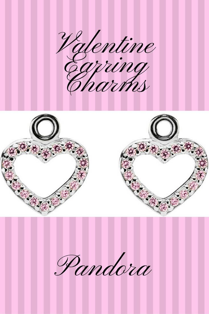 255170022 Pandora Be My Valentine Silver Cz Earring Charms - 925 sterling silver  Faceted pink cubic zirconia