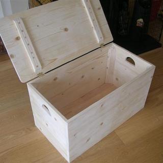 DIY wooden storage chest