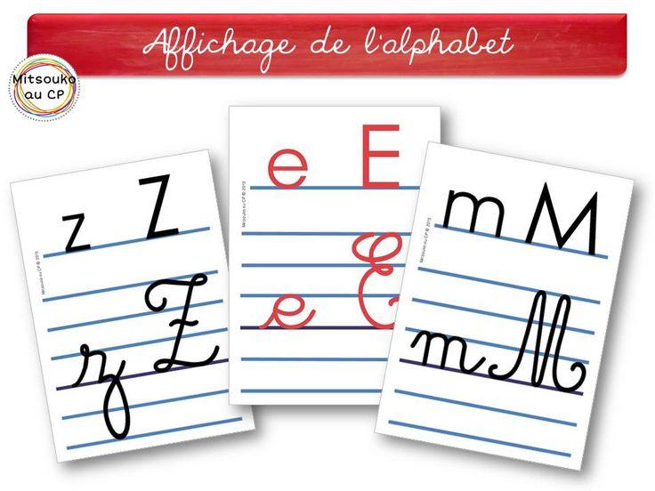 """Affichage de l'alphabet en version """"lignes séyès couleur"""""""