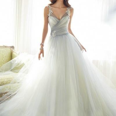 Robe de mariée cyan