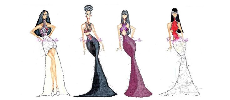 selena quintanilla fashion sketches