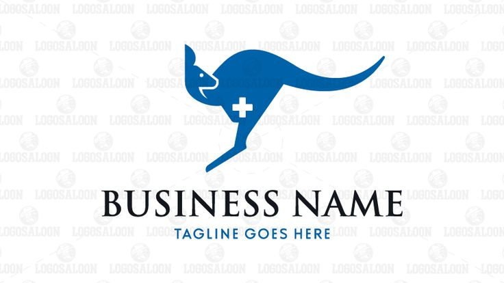 Logo for Sale: Unique logo showing kangaroo and medical cross sign. Suitable for medical related company such as hospital, clinic, veterinary, pharmacy and health care center. aussie, biomedical, physician, surgical, vitamin and supplement